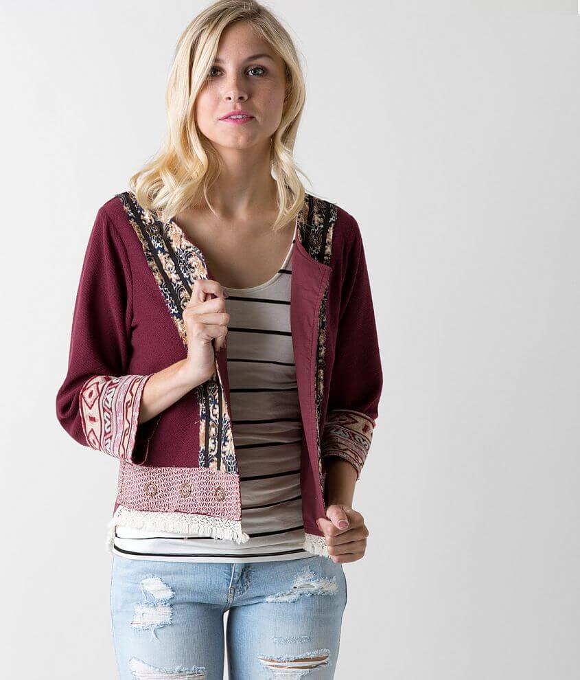 Gimmicks Pieced Cardigan Sweatshirt front view