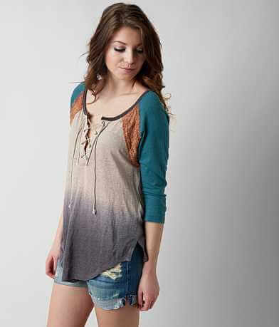 Gimmicks Raw Edge Dip Dye Top