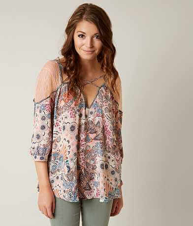 Gimmicks Printed Cut-Out Top