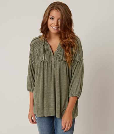 Gimmicks Textured Henley Top