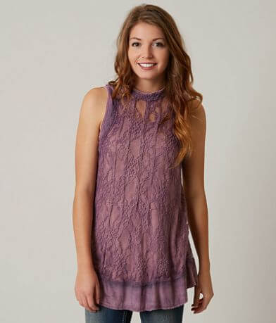 Gimmicks Washed Lace Tank Top
