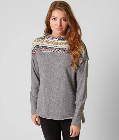 Gimmicks Jacquard Mock Neck Sweatshirt
