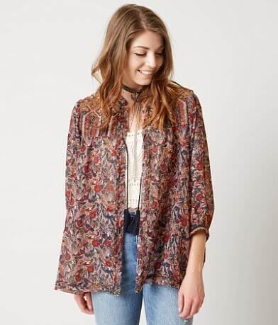 Gimmicks Floral Print Kimono