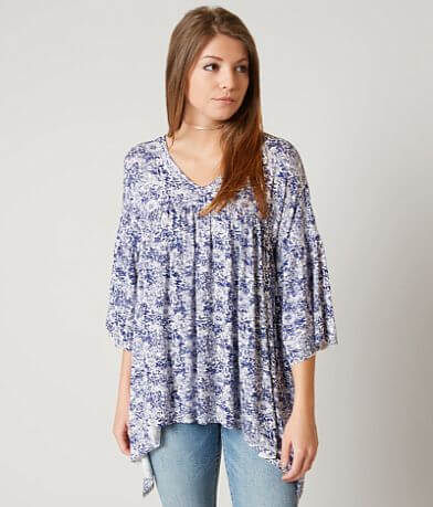 Gimmicks Raw Edge Floral Top