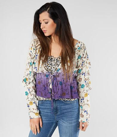 Gimmicks Pleated Ruffle Cardigan