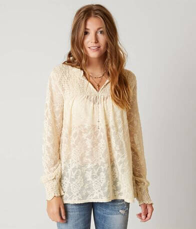Gimmicks Floral Peasant Top