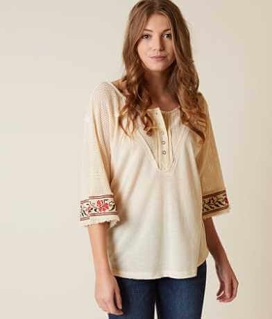 Gimmicks Peasant Henley Top