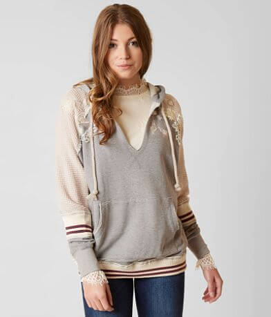 Gimmicks Raw Edge Hooded Sweatshirt