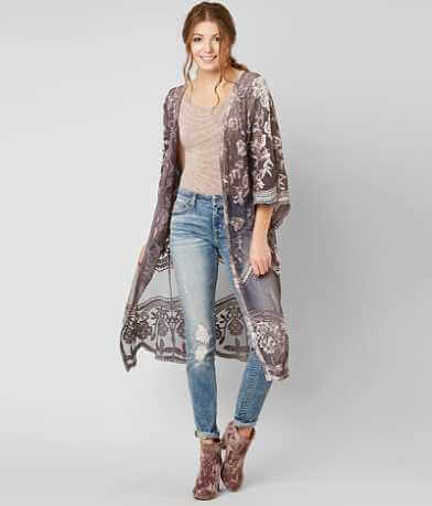 Gimmicks Mesh Duster Cardigan