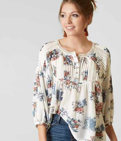 Gimmicks Floral Henley Top