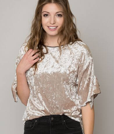 Gimmicks Crushed Velvet Top