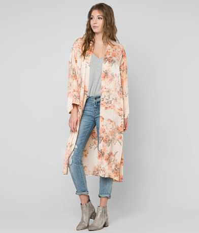 Gimmicks Satin Duster Cardigan