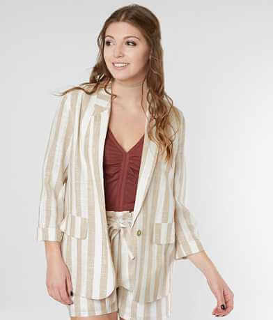 Gimmicks Linen Striped Blazer Jacket