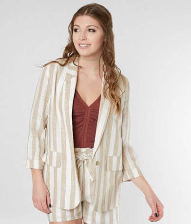 Gimmicks Linen Striped Blazer