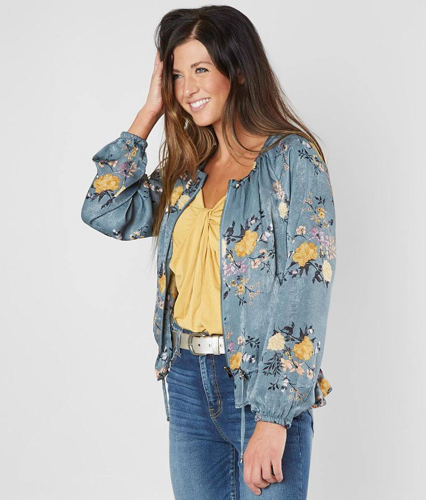 a8c30ee38 Gimmicks Floral Satin Bomber Jacket - Women's Coats/Jackets in Multi ...