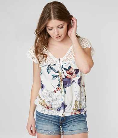 Gimmicks Floral Crochet Crop Top