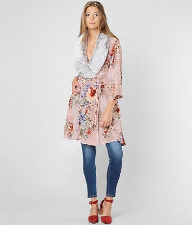 Gimmicks Floral Cut-Out Cardigan