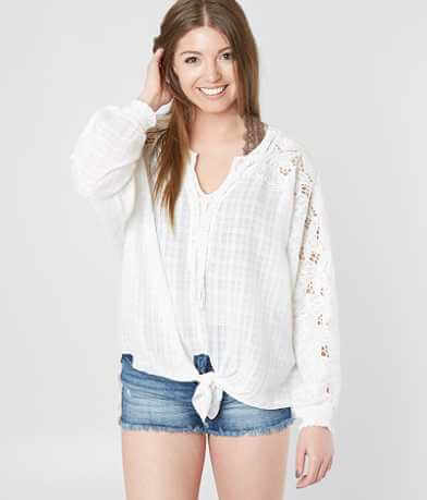 Gimmicks Floral Embroidered Dolman Top