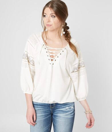 Gimmicks Metallic Embroidered Top