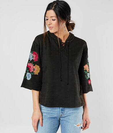 Gimmicks Floral Embroidered Sweatshirt