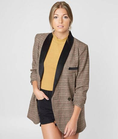 Gimmicks Plaid Blazer