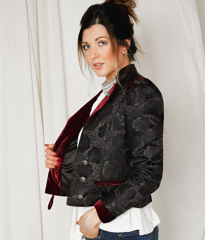 Gimmicks Floral Tapestry Blazer front view