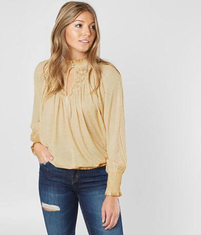 Gimmicks Washed Mock Neck Top