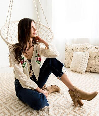 Gimmicks Floral Embroidered Gauze Cardigan
