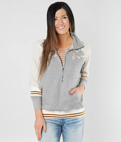 Gimmicks Embellished Half Zip Sweatshirt