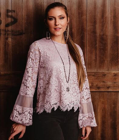 Gimmicks Lace Crochet Blouse