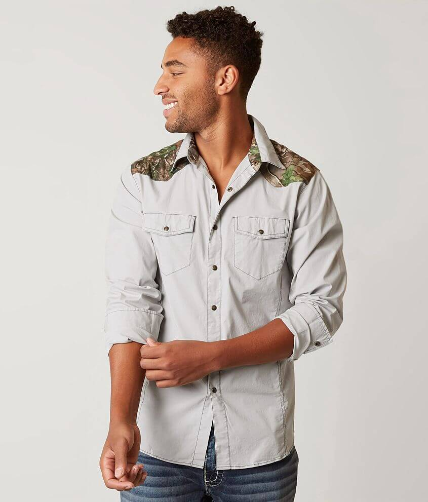 a80fd8d1f6743 Realtree® Camo Stretch Shirt - Men's Shirts in Cool Grey | Buckle