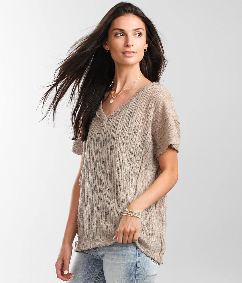 BKE Open Weave Top front view