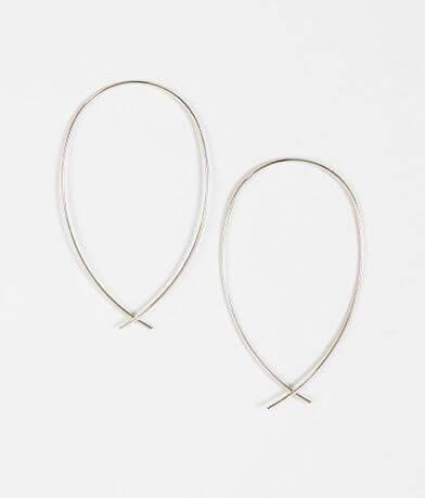 BKE Oblong Hoop Earring