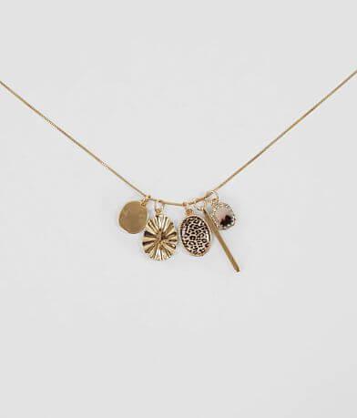 BKE Animal Print Charm Necklace