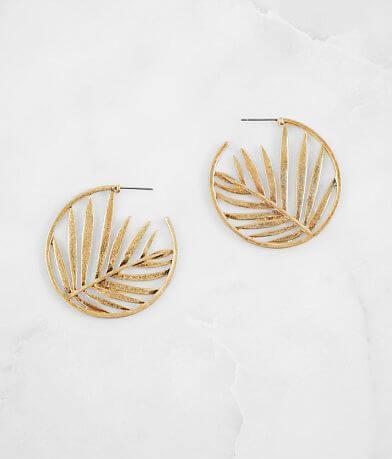 BKE Palm Leaf Earring
