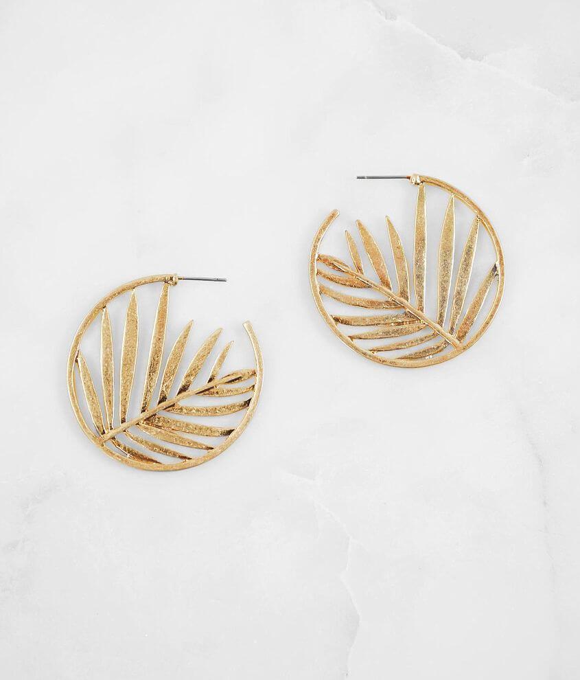 Hoop earring Measures 1 1/2\\\