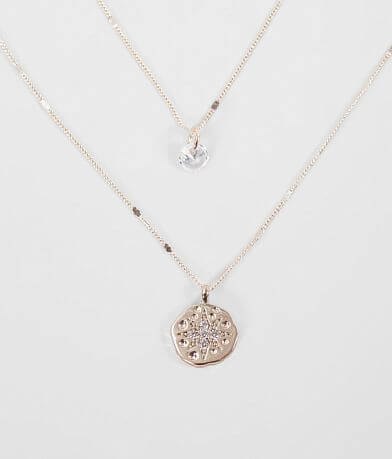 BKE Dainty Rhinestone Necklace Set