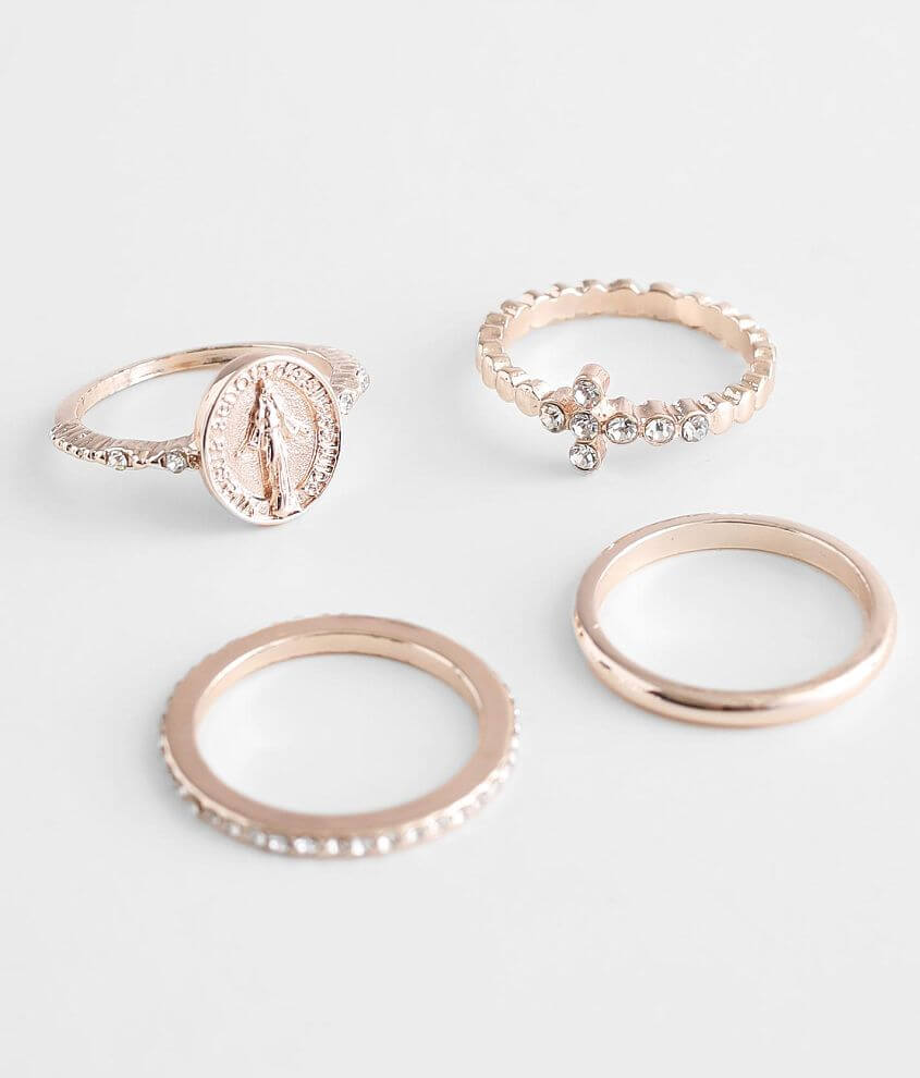 BKE 4 Pack Glitz Ring Set front view