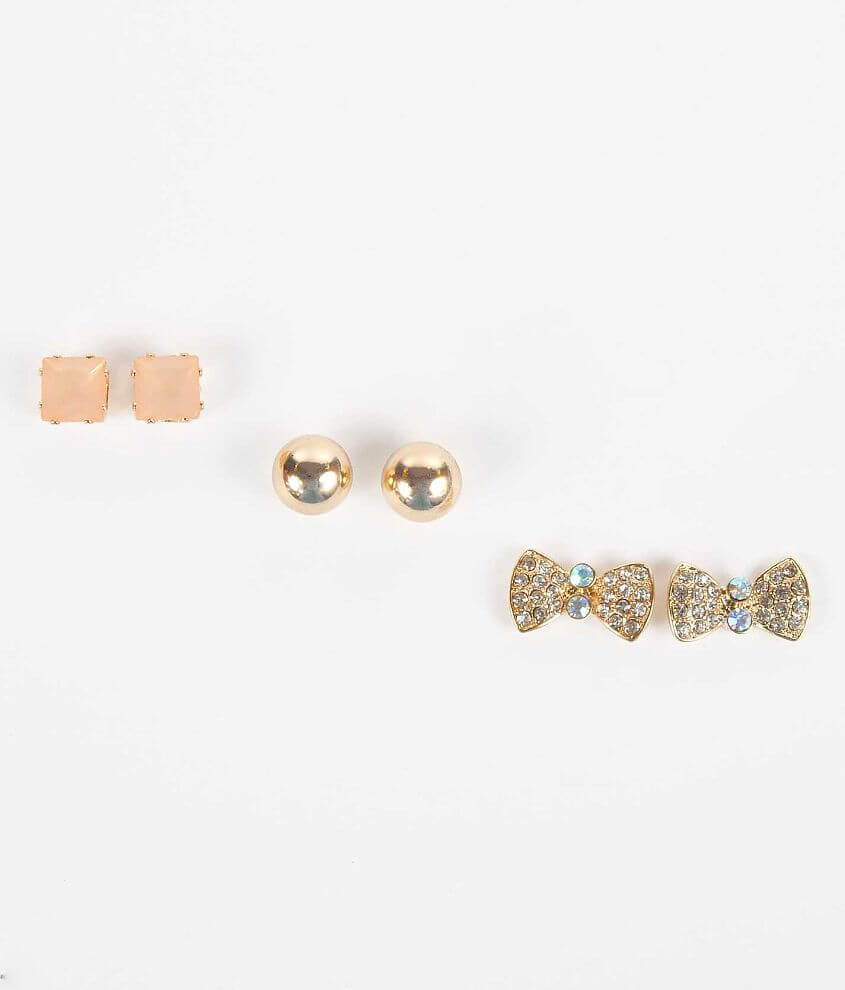 BKE Mixed Earring Set front view