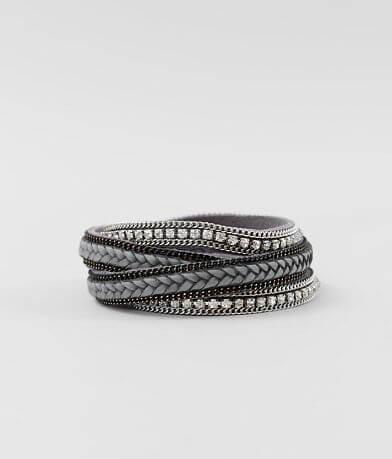 BKE Rhinestone Wrap Bracelet