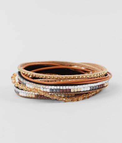 BKE Beaded Rhinestone Wrap Bracelet