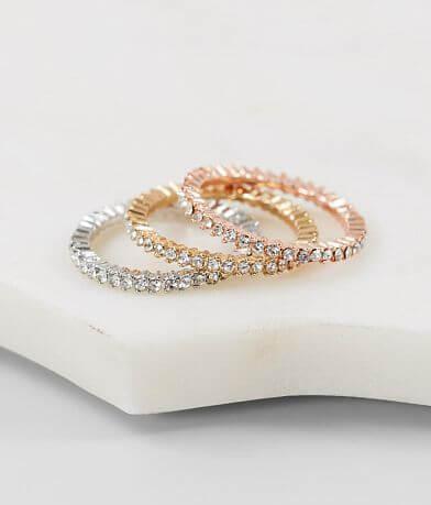 BKE Dainty Glitz Ring Set