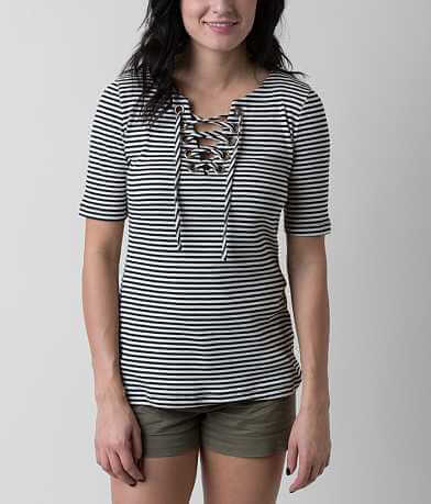 red by BKE Striped Top