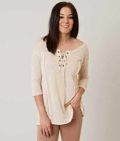 Gilded Intent Lace-Up Top