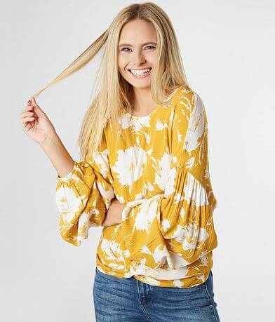 Daytrip Two Tone Floral Top
