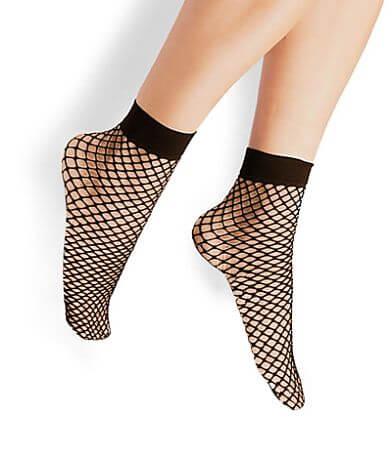 Steve Madden Fishnet Anklet Socks