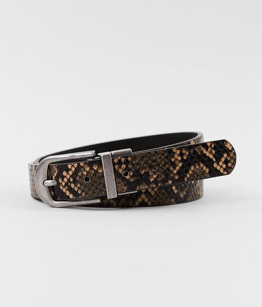 BKE Textured Reversible Belt Women's Belts in Black Multi