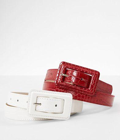 BKE 2 Pack Snake Print Belt