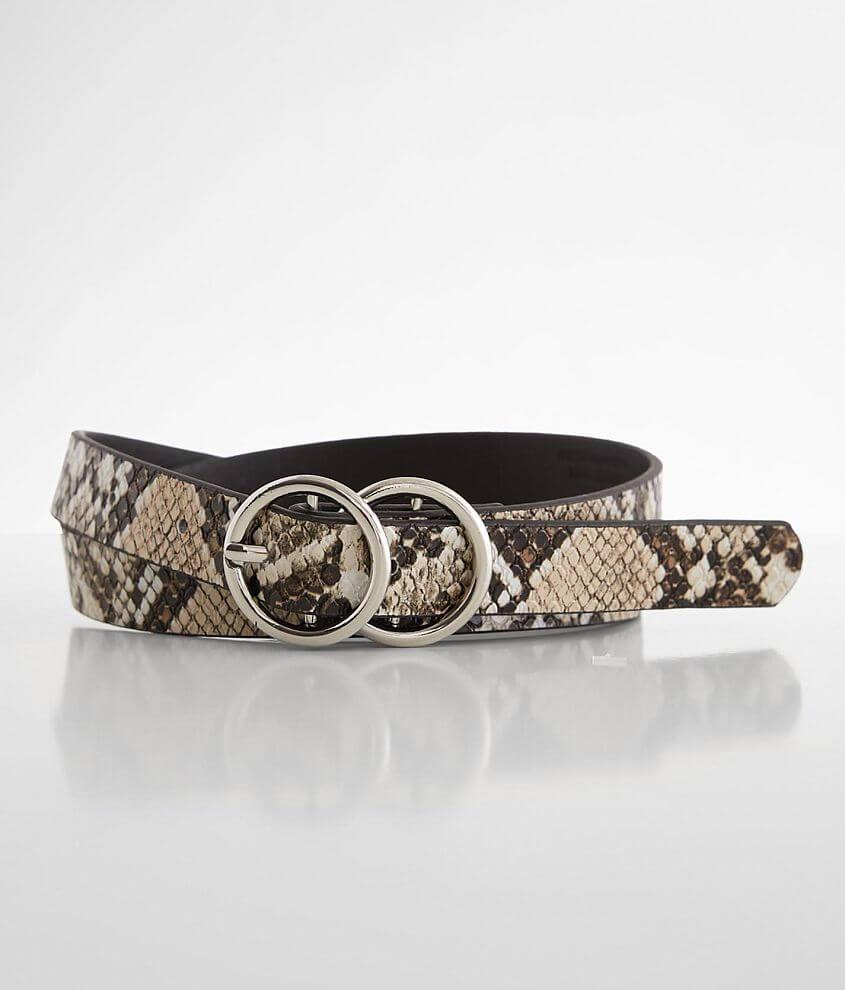 BKE Snake Print Belt front view