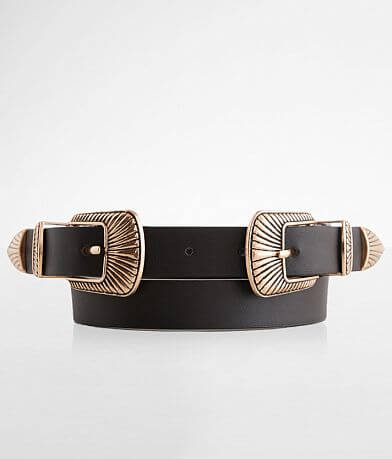BKE Double Embossed Buckle Belt